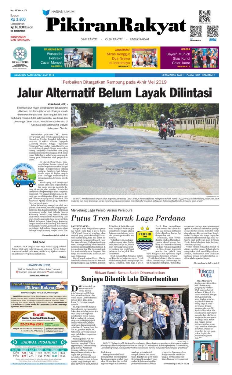 Pikiran Rakyat Digital Newspaper 18 May 2019