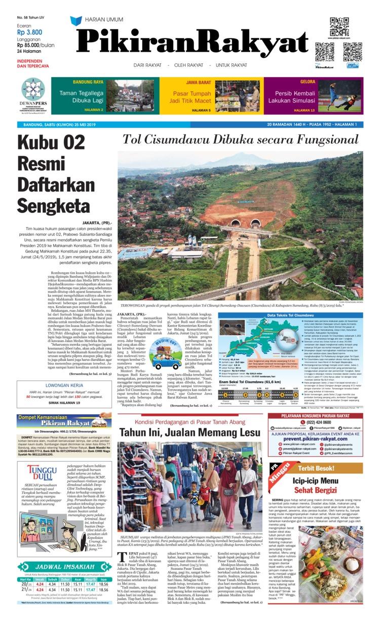Koran Digital Pikiran Rakyat 25 Mei 2019