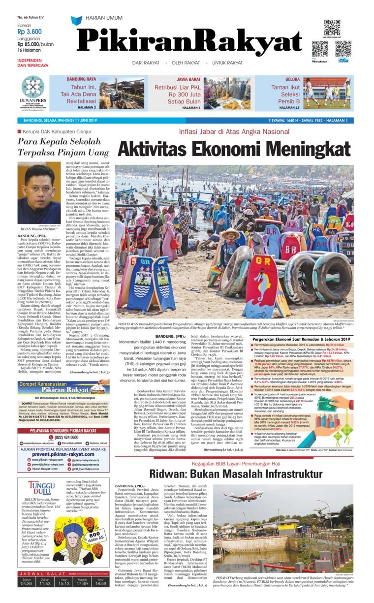 Pikiran Rakyat Digital Newspaper 11 June 2019