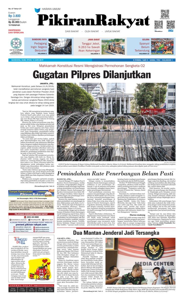 Pikiran Rakyat Digital Newspaper 12 June 2019