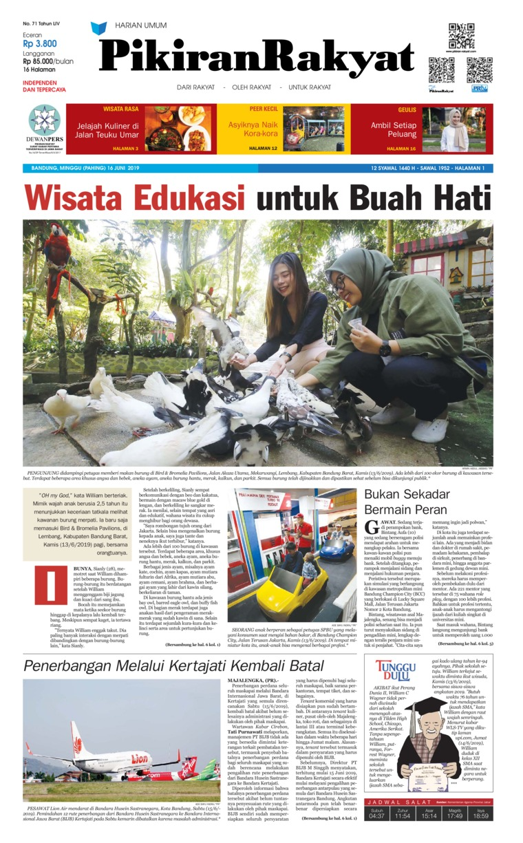 Pikiran Rakyat Digital Newspaper 16 June 2019