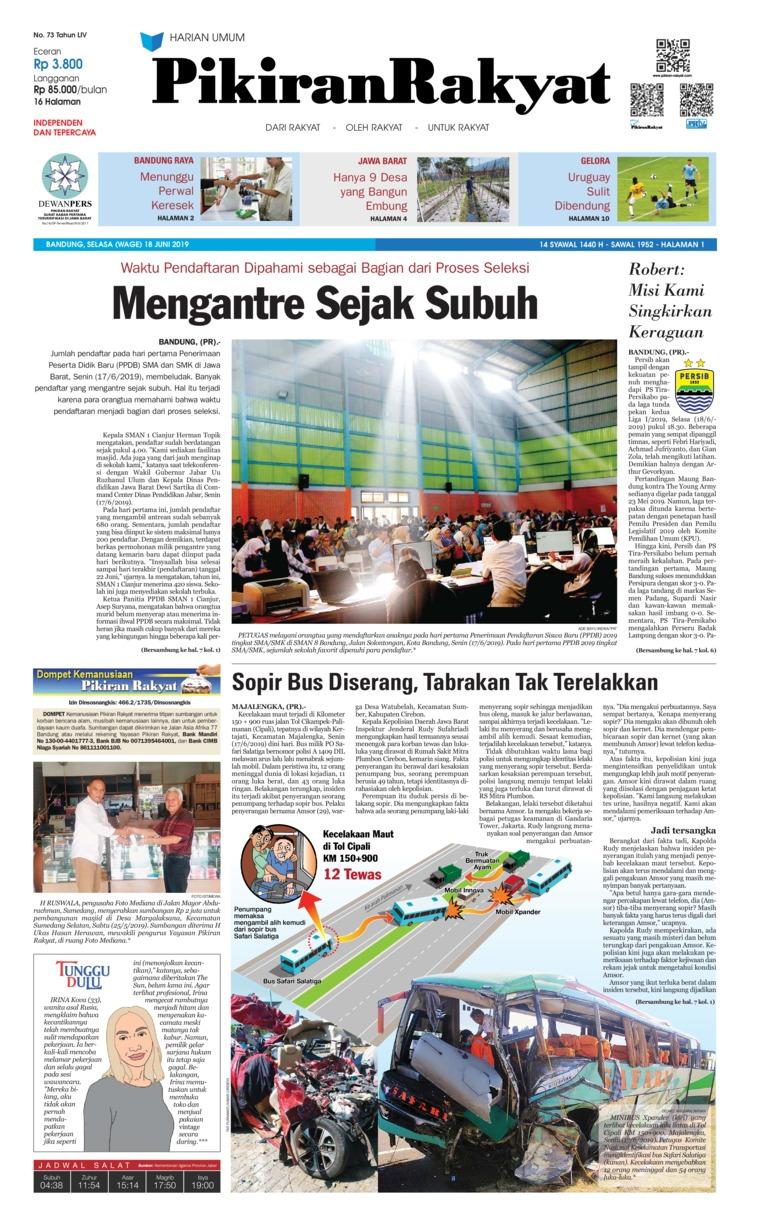 Koran Digital Pikiran Rakyat 18 Juni 2019