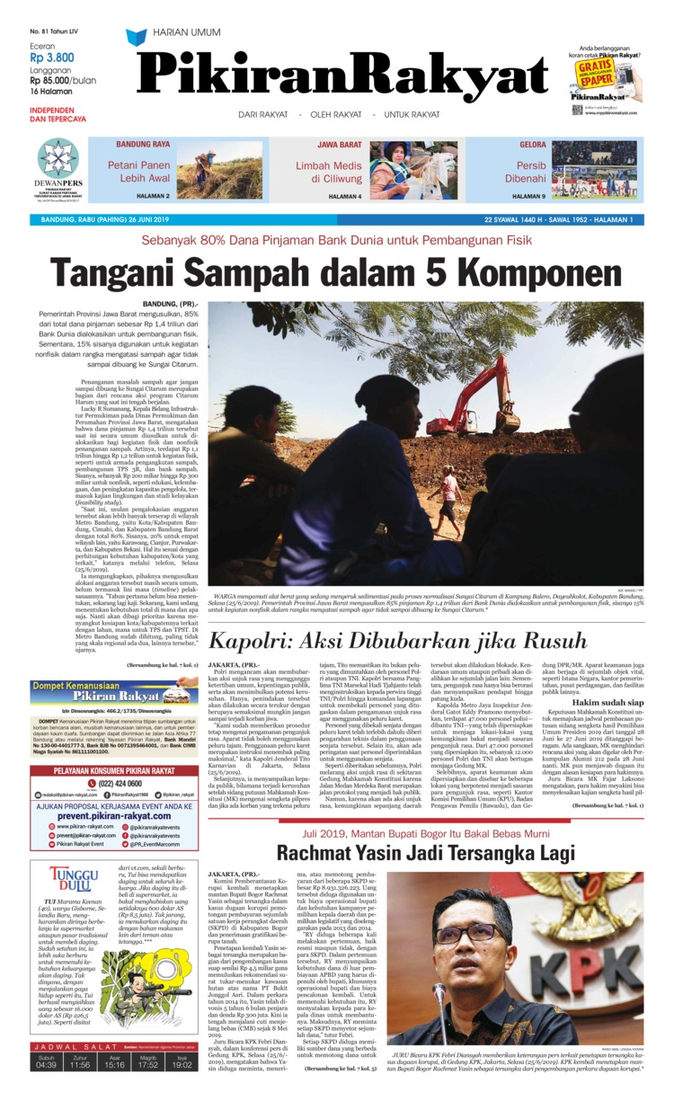 Koran Digital Pikiran Rakyat 26 Juni 2019