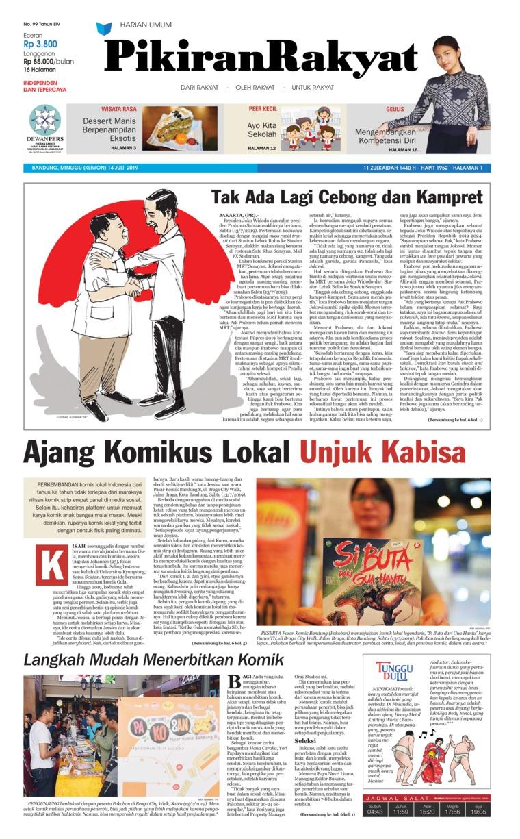 Pikiran Rakyat Digital Newspaper 14 July 2019