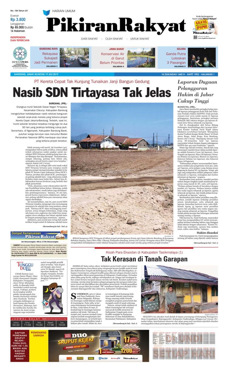 Koran Digital Pikiran Rakyat 19 Juli 2019