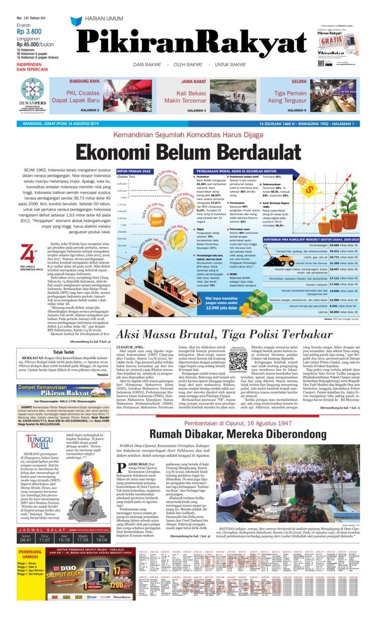 Koran Digital Pikiran Rakyat 16 Agustus 2019