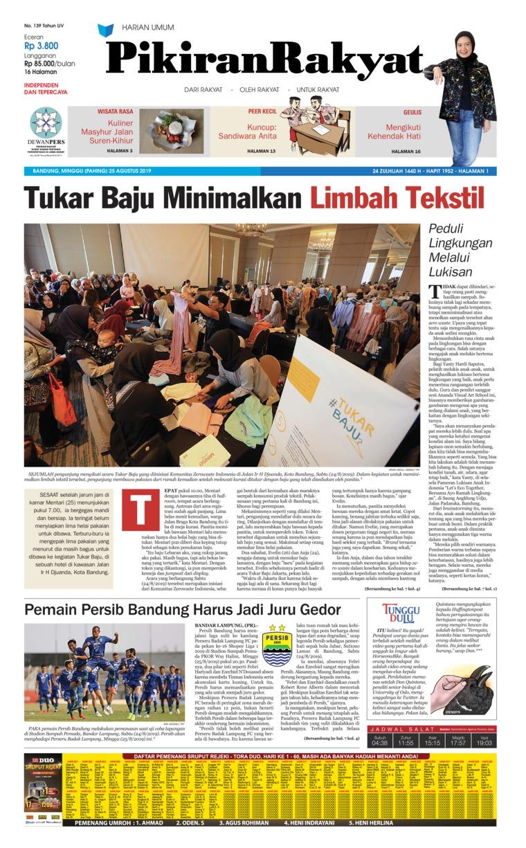 Koran Digital Pikiran Rakyat 25 Agustus 2019