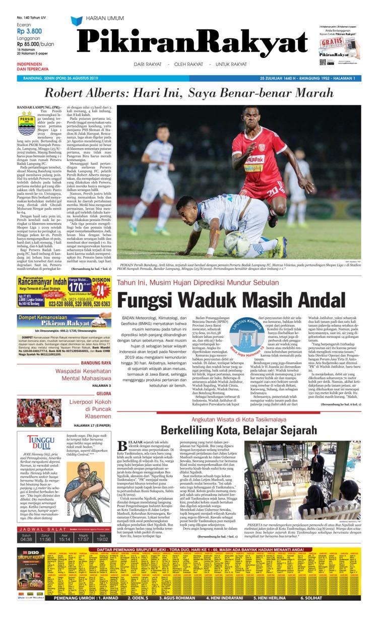 Koran Digital Pikiran Rakyat 26 Agustus 2019