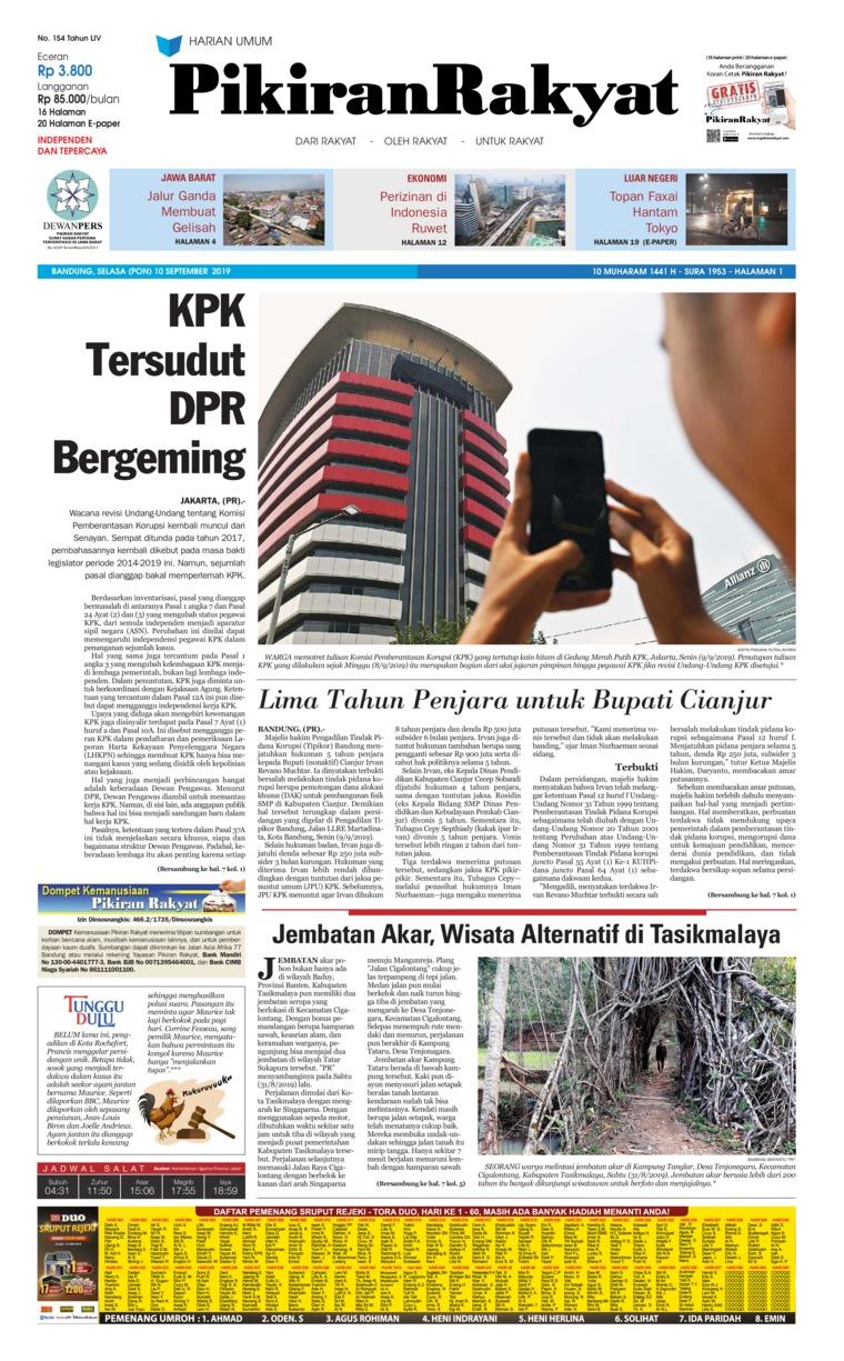 Pikiran Rakyat Digital Newspaper 10 September 2019