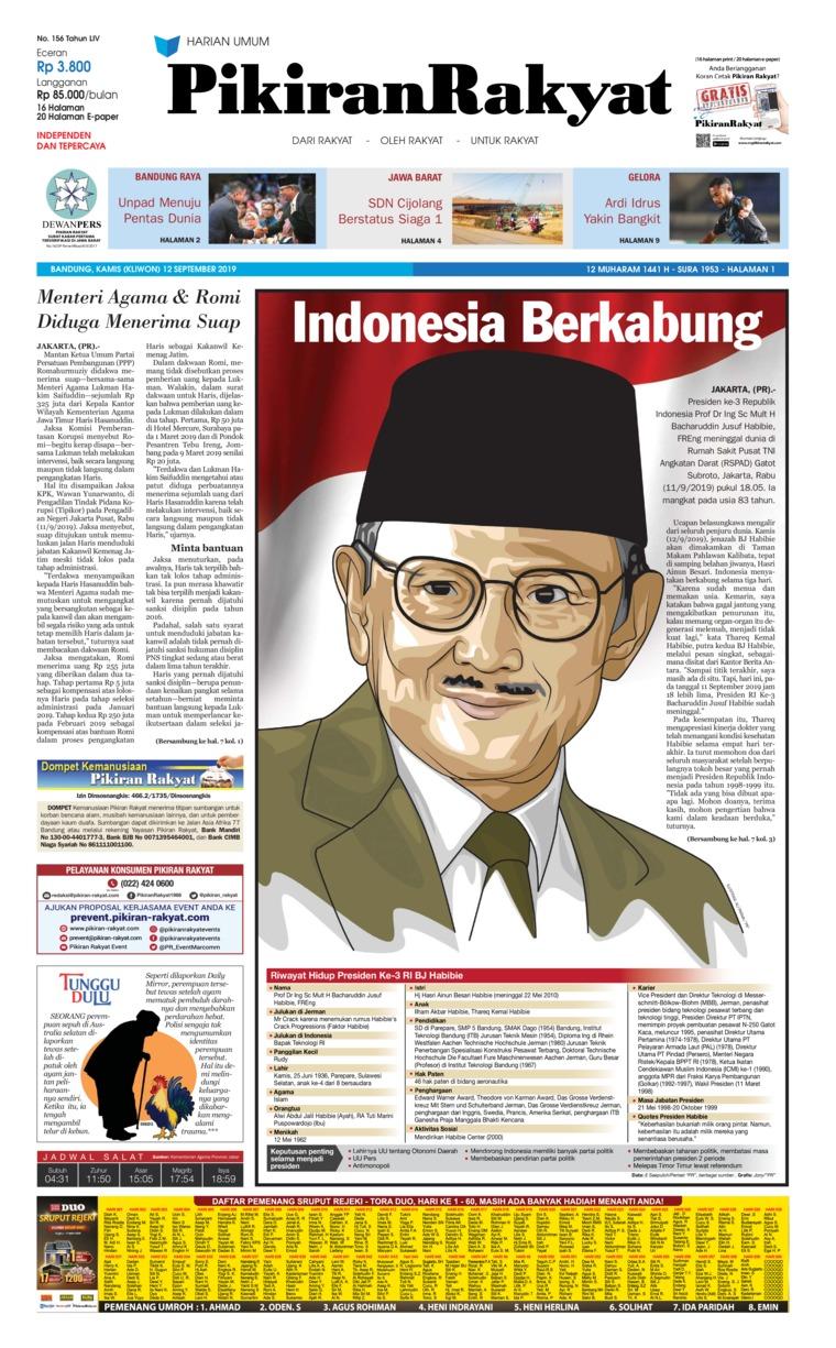 Koran Digital Pikiran Rakyat 12 September 2019