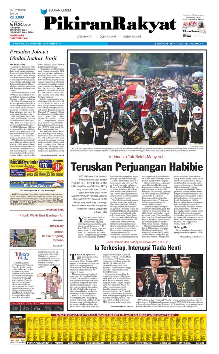 Koran Digital Pikiran Rakyat 13 September 2019