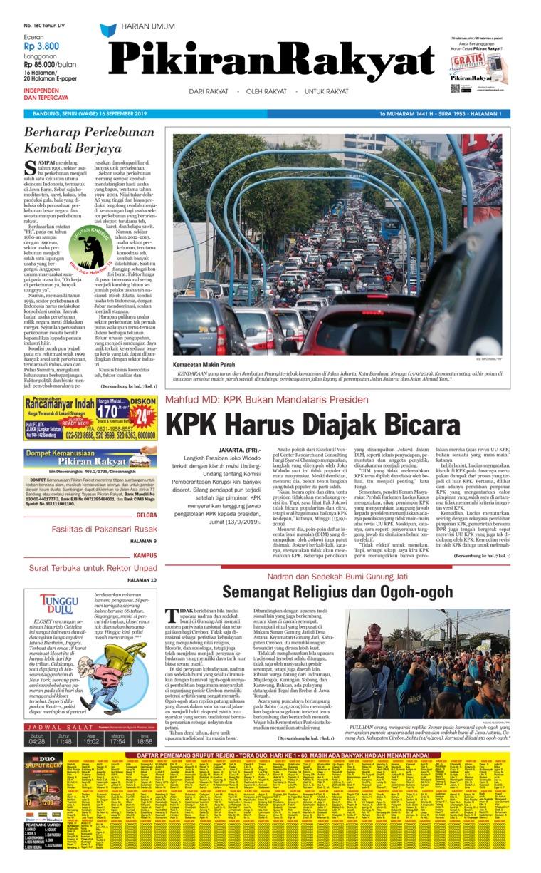Pikiran Rakyat Digital Newspaper 16 September 2019