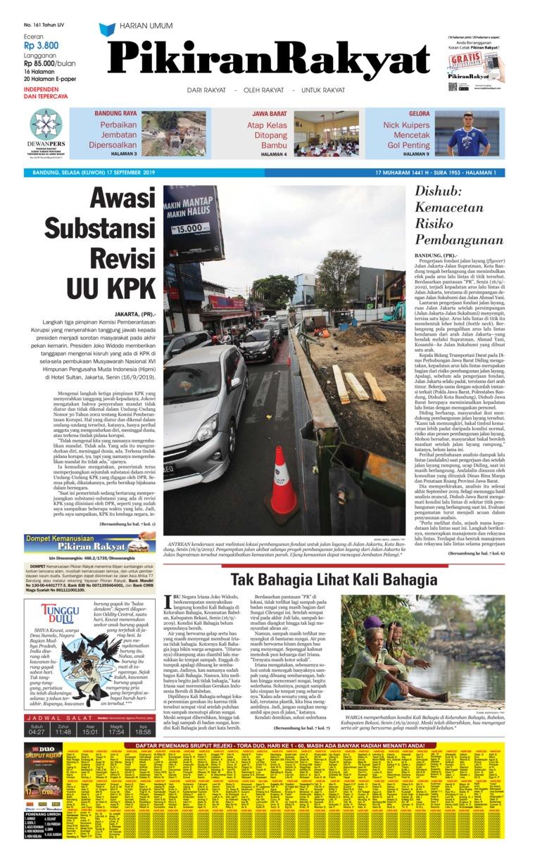 Pikiran Rakyat Digital Newspaper 17 September 2019