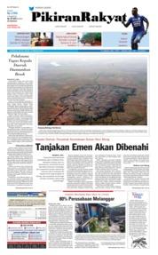 Cover Pikiran Rakyat 13 Februari 2018