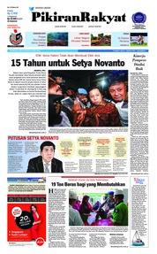 Cover Pikiran Rakyat 25 April 2018
