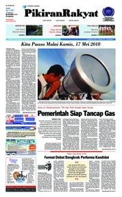 Cover Pikiran Rakyat 16 Mei 2018