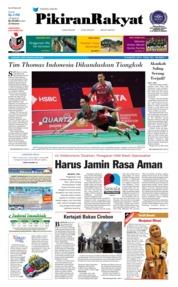 Cover Pikiran Rakyat 26 Mei 2018