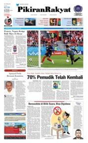 Cover Pikiran Rakyat 22 Juni 2018