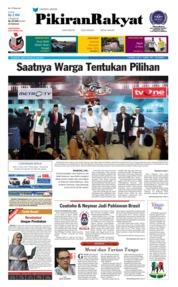 Cover Pikiran Rakyat 23 Juni 2018