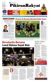 Cover Pikiran Rakyat 15 Juli 2018