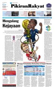 Cover Pikiran Rakyat 16 Juli 2018