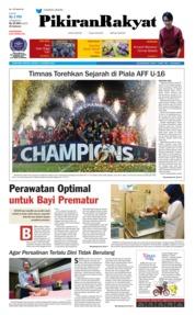 Cover Pikiran Rakyat 12 Agustus 2018