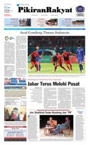 Cover Pikiran Rakyat 13 Agustus 2018