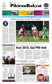 Cover Pikiran Rakyat 18 Agustus 2018