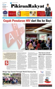 Cover Pikiran Rakyat 16 September 2018