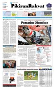 Cover Pikiran Rakyat 12 Oktober 2018
