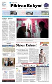 Cover Pikiran Rakyat 13 Oktober 2018