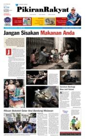 Cover Pikiran Rakyat 14 Oktober 2018