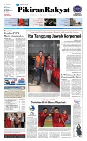 Cover Pikiran Rakyat 19 Oktober 2018