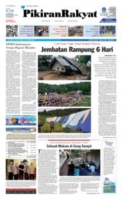 Cover Pikiran Rakyat 08 November 2018
