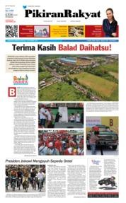 Cover Pikiran Rakyat 11 November 2018