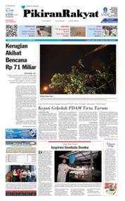 Cover Pikiran Rakyat 21 November 2018