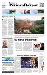 Cover Pikiran Rakyat 11 Desember 2018