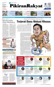 Cover Pikiran Rakyat 13 Desember 2018