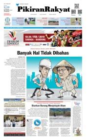 Cover Pikiran Rakyat 18 Februari 2019