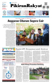 Cover Pikiran Rakyat 20 Februari 2019
