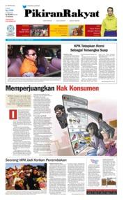 Cover Pikiran Rakyat 17 Maret 2019