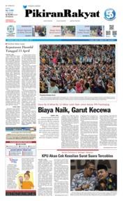 Cover Pikiran Rakyat 12 April 2019