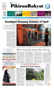 Pikiran Rakyat Cover 13 April 2019