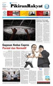 Cover Pikiran Rakyat 14 April 2019