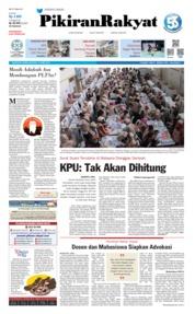 Cover Pikiran Rakyat 15 April 2019