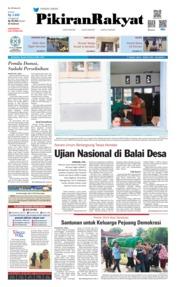 Cover Pikiran Rakyat 23 April 2019