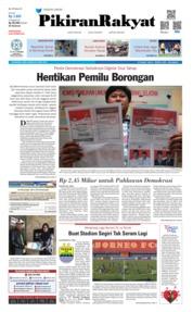 Cover Pikiran Rakyat 24 April 2019