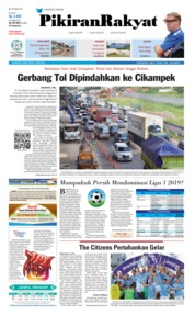 Cover Pikiran Rakyat 13 Mei 2019