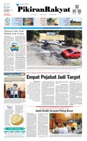 Cover Pikiran Rakyat 28 Mei 2019