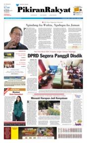 Cover Pikiran Rakyat 20 Juli 2019